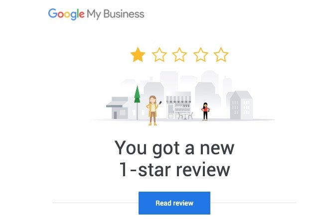 Google My Business listing: You got a new one-star review