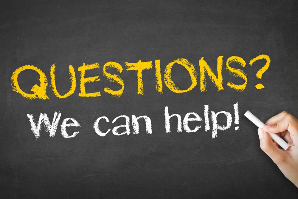 Questions? We can help.