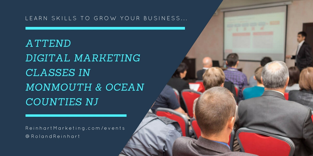 Attend Digital Marketing Classes in Monmouth County and Ocean County NJ.