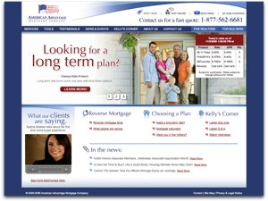 American Advantage Mortgage website screenshot