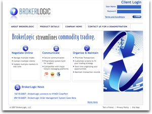 BrokerLogic website screenshot