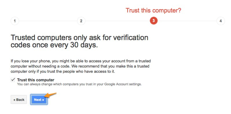 How to enable Google 2-step verification