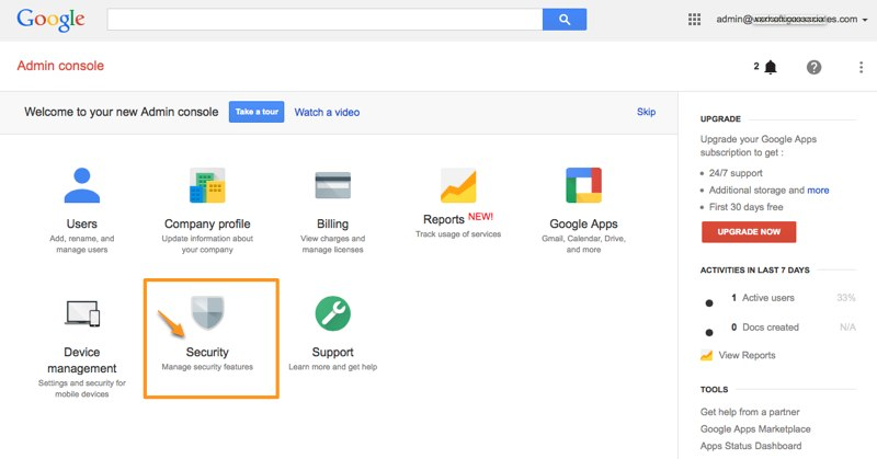 How to enable Google account security