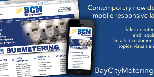Mobile Responsive Website - Bay City Metering